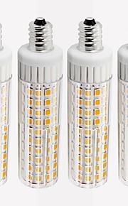 4pcs 8.5 W 1105 lm E12 Bombillas LED de Mazorca T 125 Cuentas LED SMD 2835 Regulable Blanco Cálido / Blanco Fresco 110 V
