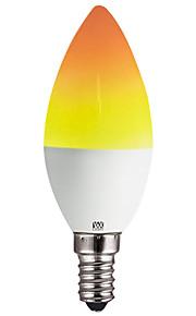 YWXLIGHT® 1pc 2 W 100-200 lm E14 / E12 LED-kaarslampen C35 39 LED-kralen SMD 2835 Feest / Decoratief / Kerst Bruiloft Decoratie Geel 100-240 V