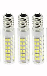 5 pezzi 4.5 W 450 lm E14 LED a pannocchia T 76 Perline LED SMD 2835 Oscurabile Bianco caldo / Luce fredda 110 V