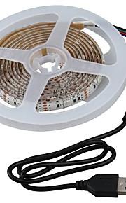 2m Sady světel 60 LED diody SMD5050 1 x stmívač R GB Voděodolné / Ořezatelný / Vhodné do aut 5 V 1 sada
