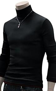Ανδρικά Καθημερινά / Σαββατοκύριακο Μονόχρωμο Μακρυμάνικο Λεπτό Κανονικό Πουλόβερ, Ζιβάγκο Φθινόπωρο Μαλλί Σκούρο κόκκινο / Σκούρο γκρι / Ανοιχτό Γκρι M / L / XL