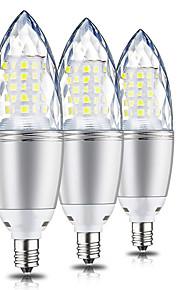 10 W LED Λάμπες Καλαμπόκι 1000 lm E12 T 60 LED χάντρες SMD 2835 Διακοσμητικό Θερμό Λευκό 220 V 110 V, 3pcs