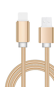 молния USB-кабель адаптер позолоченный кабель для iphone 100 см для алюминия