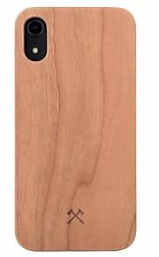 Кейс для Назначение Apple iPhone 7 Защита от удара Кейс на заднюю панель Имитация дерева Твердый деревянный для iPhone XR / iPhone 7