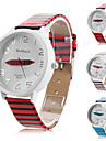 Men's and Women's PU Analog Quartz Wirst Watch with Zebar-Stripe (Assorted Colors)