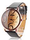 Жен. Модные часы Кварцевый PU Группа Черный Белый Красный Коричневый