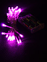 3M 30-LED Pink Light 2-Mode LED String Fairy Lamp for (3xAA)