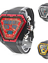 Men's Triangle Dial Dual Time Zones Multi-Function Rubber Band Wrist Watch (Assorted Colors) Cool Watch Unique Watch