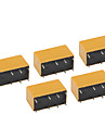 HK19F-DC5V-SHG 5-Pin Power Relay - Black (5-Piece)