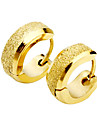 Men's Titanium Steel Golden Arenaceous Earring  Christmas Gifts