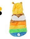 Chien Costume Pulls à capuche Tenue Vêtements pour Chien Cosplay Halloween Animal Noir Jaune Costume Pour les animaux domestiques