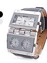 Мужские аналоговые кварцевые часы (3 часовых пояса, разные цвета)