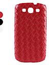 tricô caso padrão de proteção difícil para Samsung Galaxy i9300 s3 (cores sortidas)