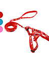 Dog Harness Leash Slip Lead Footprint/Paw Textile Red Blue Pink