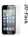 Ecran de Protection Transparent avec Chiffon de Nettoyage pour iPhone 5 (20 Protections, 5 Chiffons de Nettoyage)