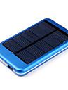 солнечная 5000mAh внешняя батарея питания банк для iphone4s / 5/5 сек / Ipad / samsungs3 / S4 / S5 / мобильных устройств