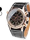Men\'s Quartz Wrist Watch Japanese Band Charm Black / White