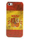 ρετρό στυλ ισπανικό μοτίβο της σημαίας σκληρή θήκη για iphone 5/5s