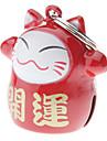 Chat / Chien Etiquettes Manches Pagode / Style Dessin Animé Rouge Aluminium