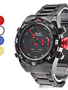 남성의 합금 멀티 운동 아날로그 - 디지털 손목 시계 (블랙)