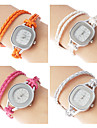 Women's Fashionable Style PU Analog Quartz Bracelet Watch (Assorted Colors)