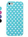 아이폰 5/5S (분류 된 색깔)를위한 도트 패턴 분리 하드 케이스