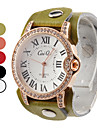 Women's Elegant Leather Analog Quartz Wrist Fashion Watch (Assorted Colors)