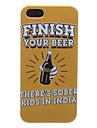 cerveja estojo rígido padrão para o iphone 5/5s