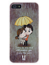 Lovers in the Rain Pattern High Quality Hard Case for iPhone 5/5S