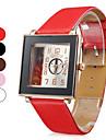 Pulso das mulheres do estilo PU Analógico Quartz Watch (cores sortidas)