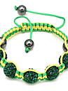 Green Beads Rope Woven Bracelet