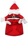 Gato Cachorro Fantasias Casacos Roupa Roupas para Cães Fantasias Natal Ano Novo Dia Das Bruxas Ocasiões Especiais Para animais de