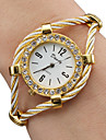 Women\'s Fashion Watch Bracelet Watch Quartz Alloy Band Analog Sparkle Bangle Gold - Gold One Year Battery Life / SSUO 377