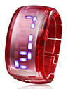 Bracelet Design Future Blue LED Wrist Watch - Red
