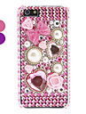 strass cas dur de conception de perles de style pour l'iphone 5/5s