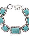 Square Turquoise Silver Bracelet