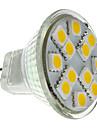 2W 160 lm GU4(MR11) LED 스팟 조명 MR11 12 LED가 SMD 5050 따뜻한 화이트 DC 12