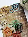 clips coloridos do estilo semiquaver de papel (cor aleatória, 10-pack)