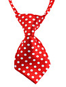 Cat Dog Tie/Bow Tie Dog Clothes Birthday Fashion Wedding Polka Dot Random Color Costume For Pets