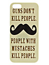 Mustache Pattern Hard Case for iPhone 5/5S