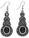 Z&X®  Geometric Imitation Silver Dollar Gemstone Earrings