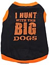 Dog Shirt / T-Shirt Dog Clothes Letter & Number Black Cotton Costume For Pets