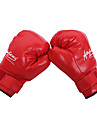 قفازات ملاكمة الحقيبة / قفازات تمرين الملاكمة / قفازاتNMA إلى التايكوندو, الملاكمة, الكاراتيه, الفنون العسكرية اصبع كامل قابل للتعديل, متنفس, سترة واقيه PU رجالي / نسائي - أسود / أحمر