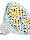 3w gu5.3 (mr16) led spotlight mr16 60 smd 3528 250lm теплый белый 2800k dc 12v