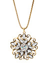 Flowers And Diamond Alloy Necklace