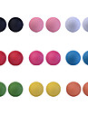 Lureme®Cute Candy Color Bead Earring (9 Pairs)