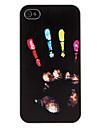 Capa Rígida com Estampa de Mão Colorida para iPhone 4/4S