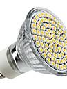 4W GU10 Lâmpadas de Foco de LED MR16 80 LEDs SMD 3528 Branco Quente 2800lm 2800KK AC 220-240V