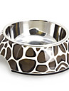 Bruddstein Pattern Melamine Shell Pet Stainless Steel Food Bowl for hunder Katter (S-XL)