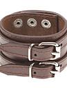 Мужская двойной ремень кожаный браслет